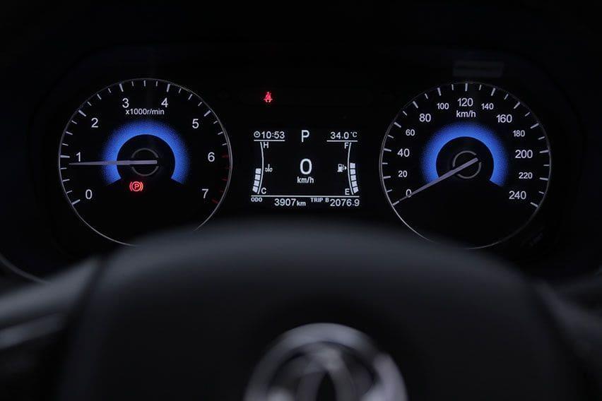 DFSK Glory i-Auto odometer