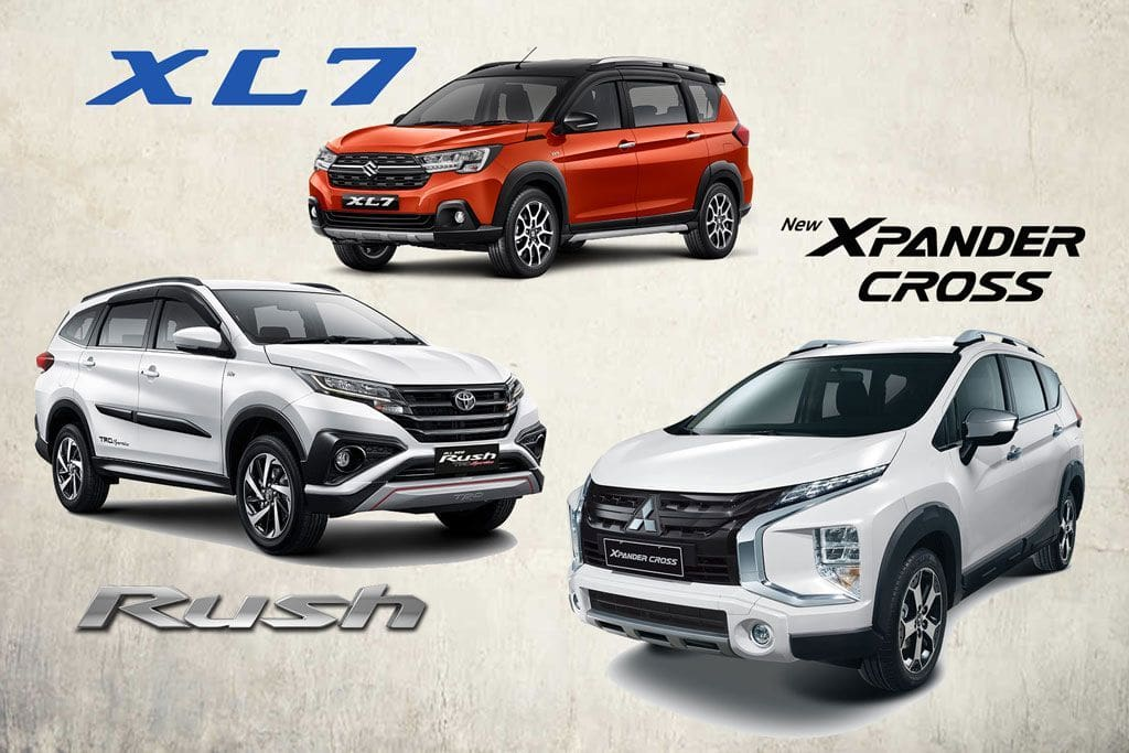 KOMPARASI: Toyota Rush TRD Vs Suzuki XL7 Vs Xpander Cross