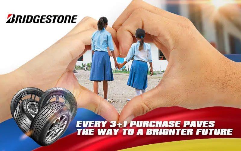 Bridgestone gives away free tires, premium items, and hope