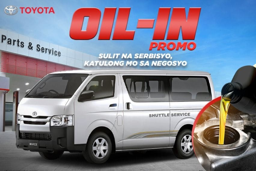 Toyota Hiace users get livelihood boost with Oil-In Promo