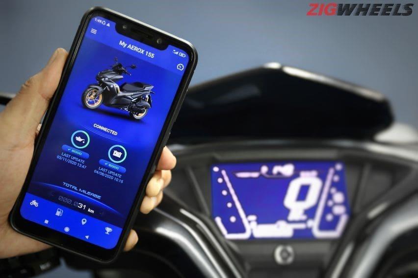 Yamaha aerox connected