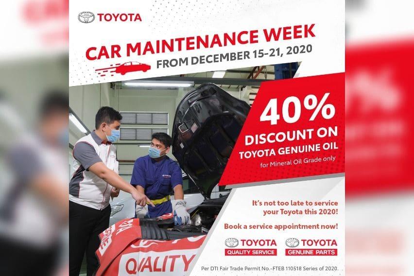 Toyota PH declares December 15-21 as Car Maintenance Week