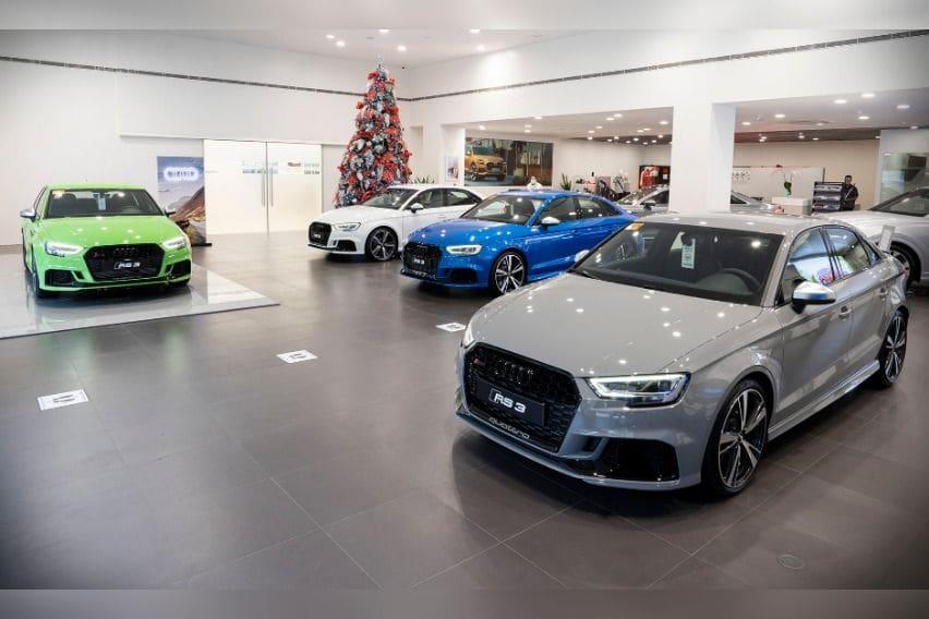 Audi RS 3 showroom