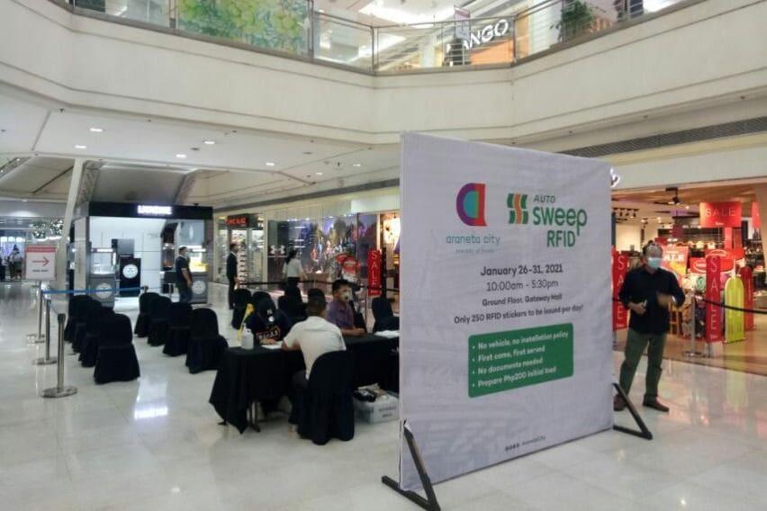 RFID installation booth at Araneta City
