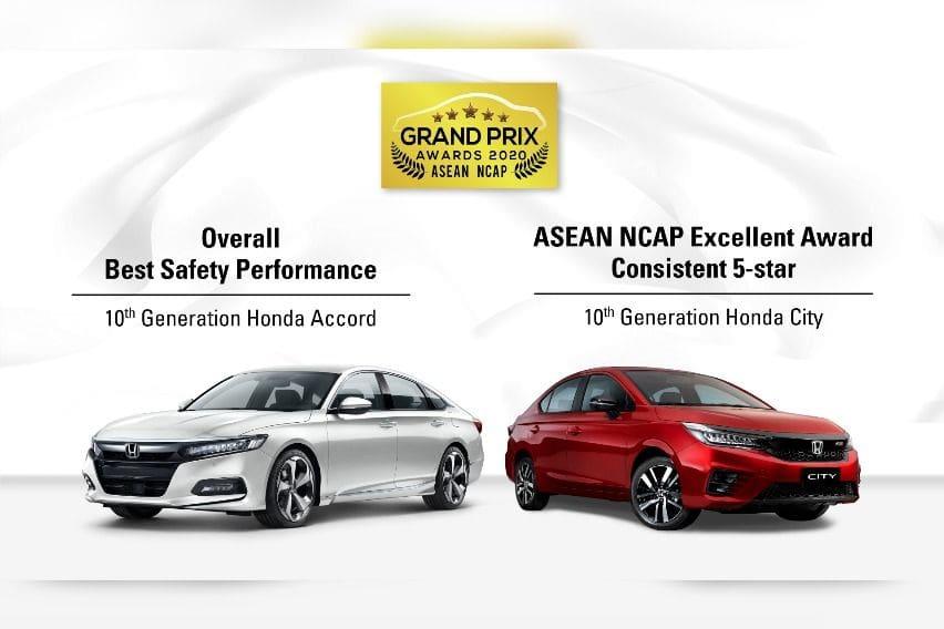 Honda Accord and Honda City at ASEAN NCAP Grand Prix 2020