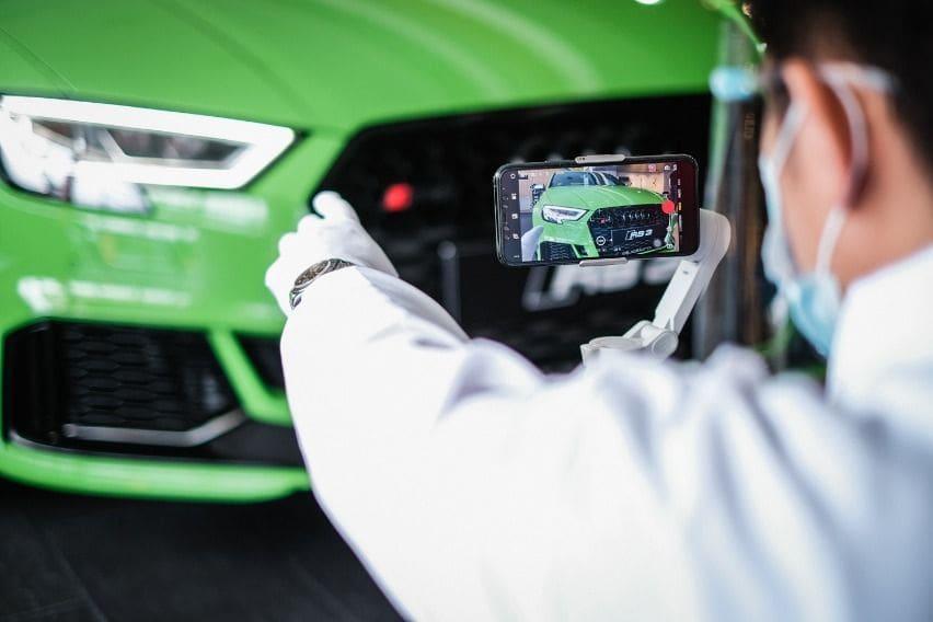 Audi RS3 via Audi Live View