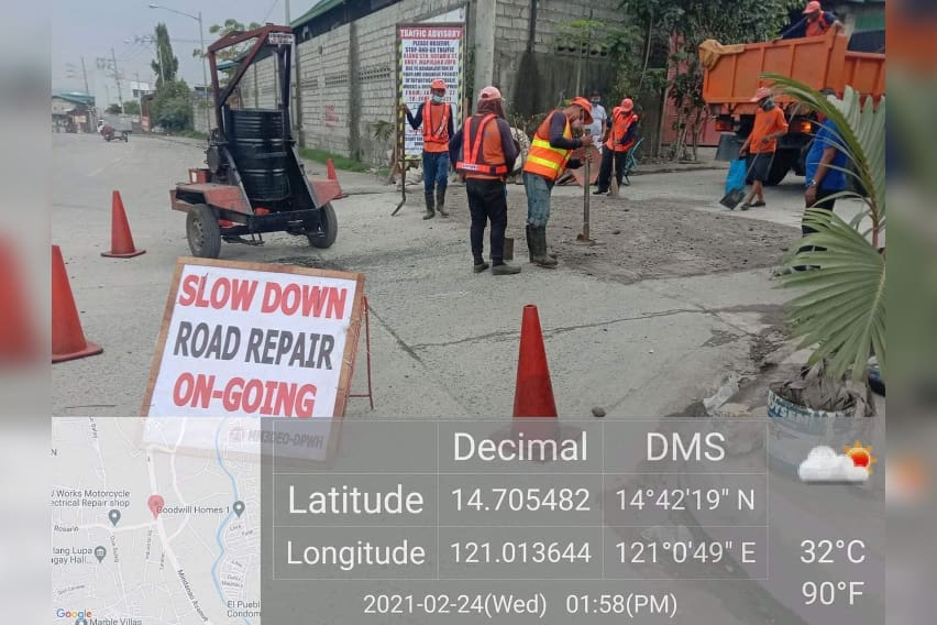 DPWH-Fixes-Potholes-along-Mindanao-Avenue-in-Valenzuela-City-2