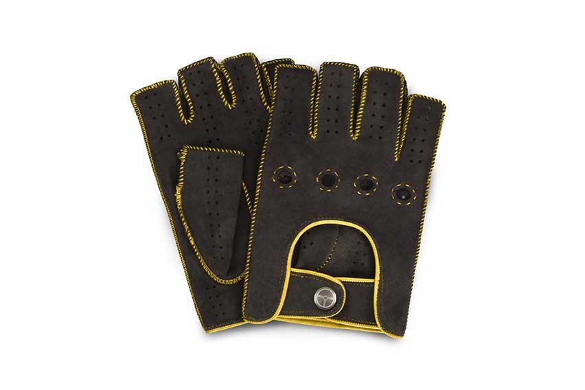 outlierman powerslide fingerless glove yellow