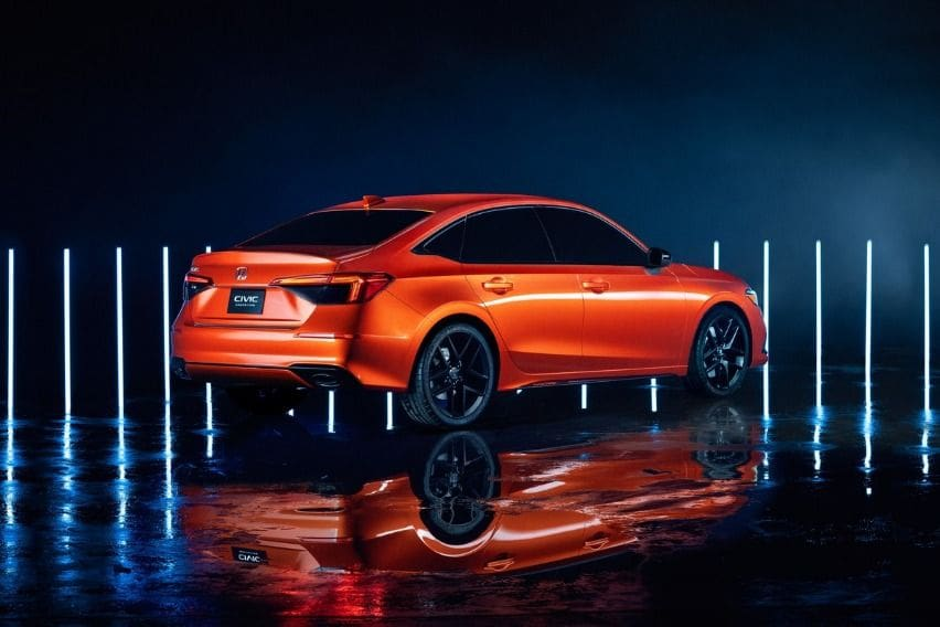 2022 Honda CIvic interior sketch