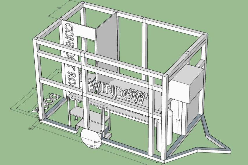 Atoy Llave's trailer-type quarantine facility