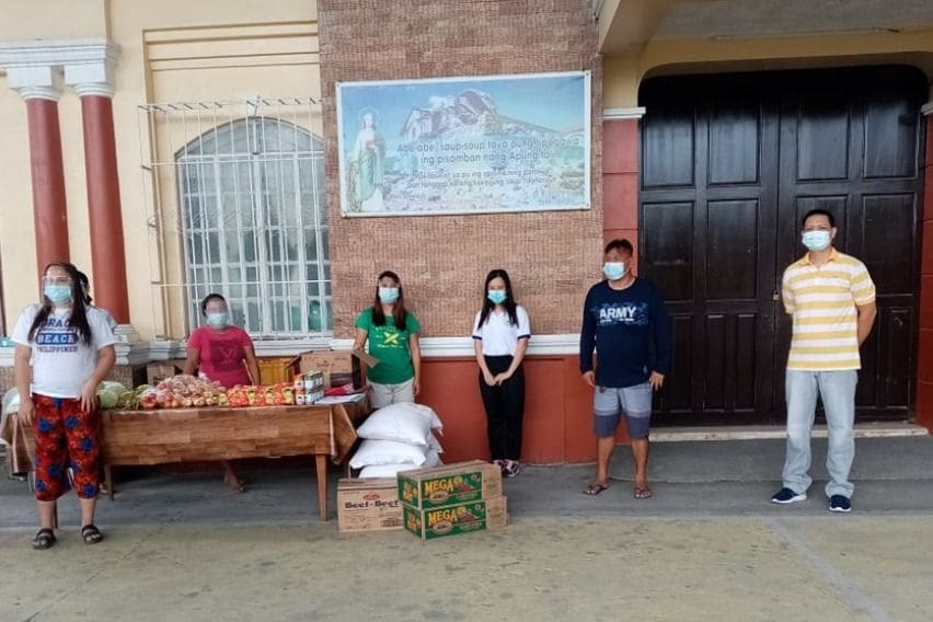 NLEX Corporation helping a community pantry in Porac< Pampanga