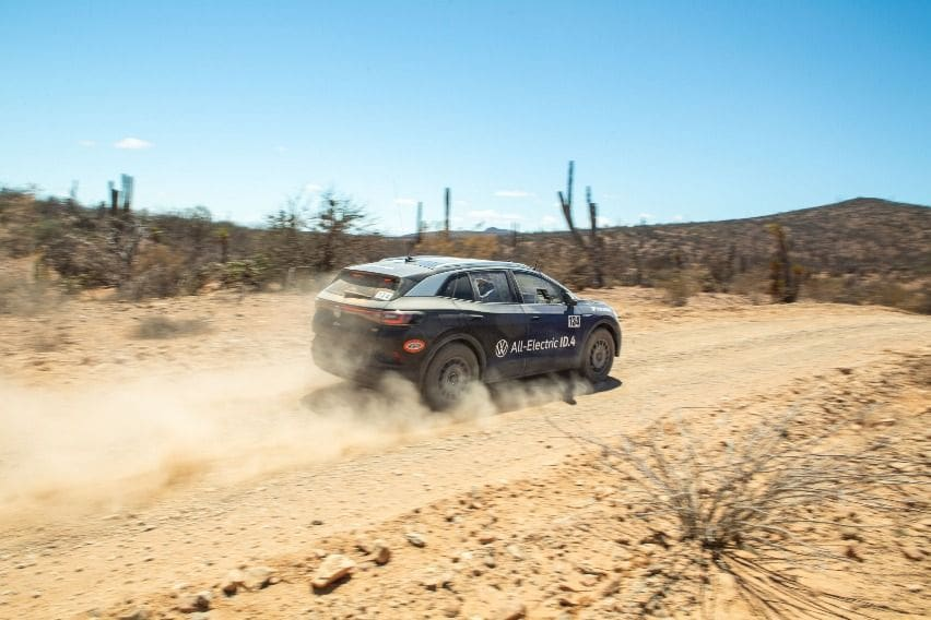 Volkswagen EV SUV ID.4 at the Mexican 1000 race
