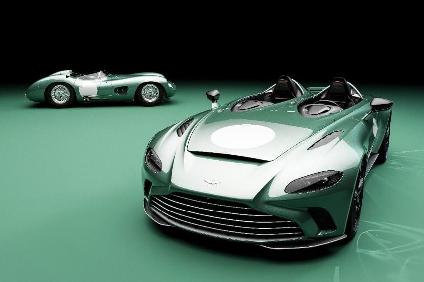 Aston-Martin-DBR1-and-V12-Speedster
