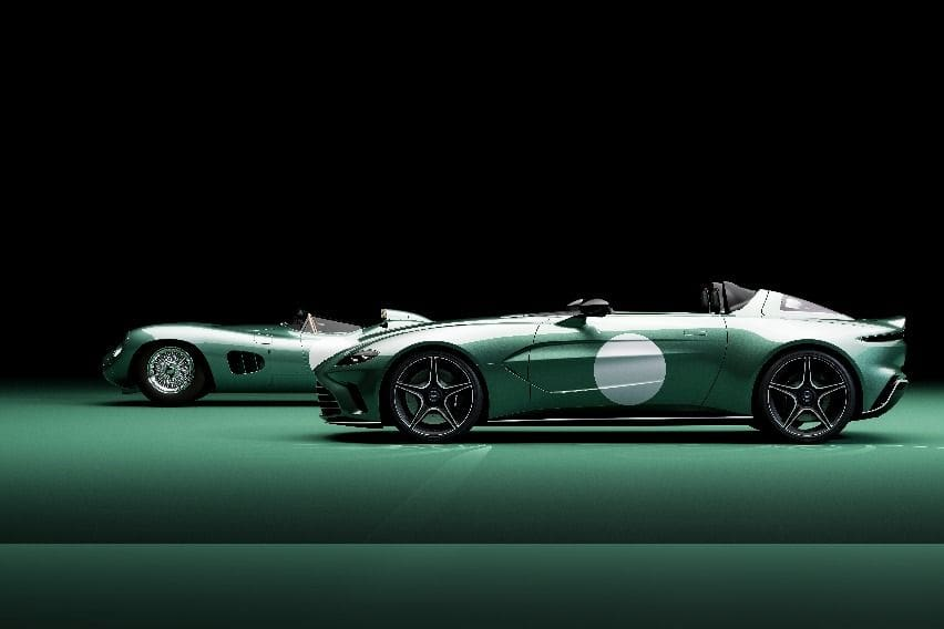 Aston-Martin-DBR1-and-V12-Speedster-side-by-side