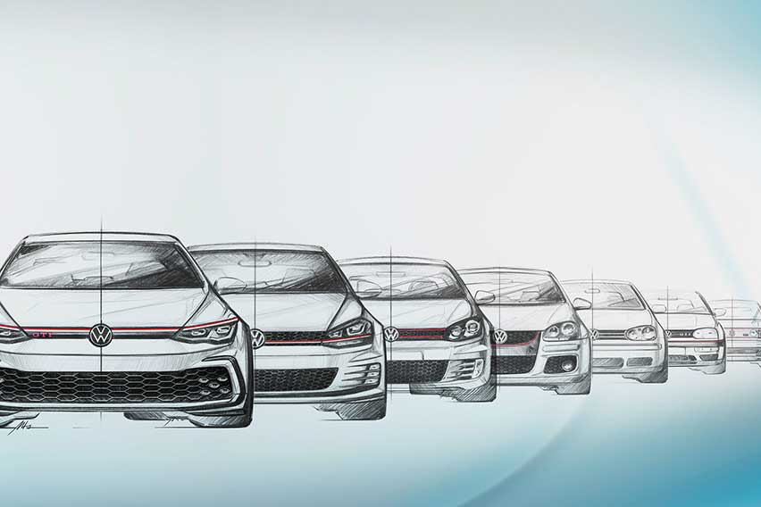 Eight-generations-of-Golf-GTI-faces