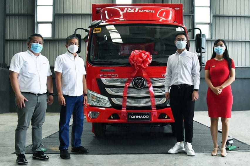 Turnover of Foton units to JT Express