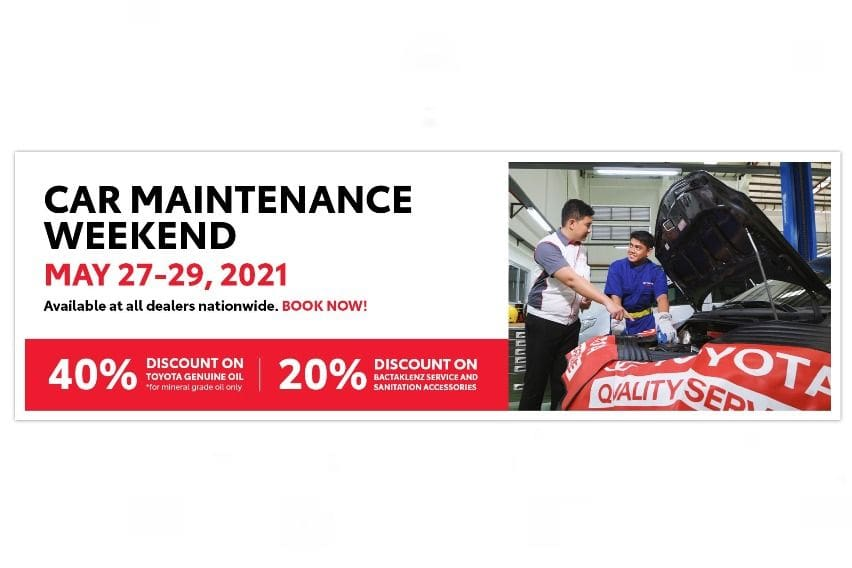 Discounts on PMS and more during \'Toyota Car Maintenance Weekend\'