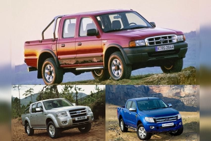 Ford-Ranger generations Philippines-