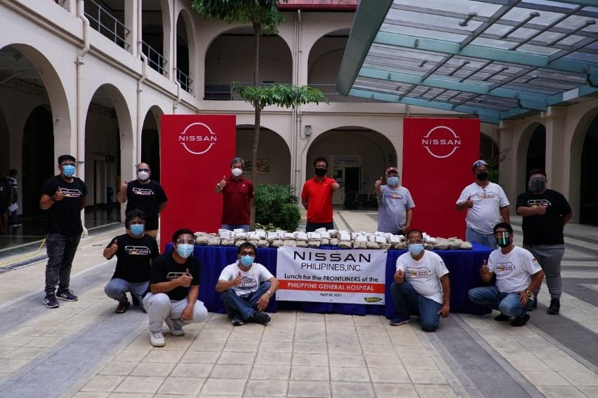 Nissan in the Philippines food donation to PGH