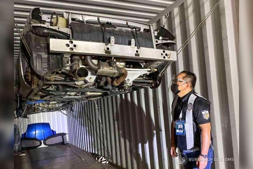 Retrieved suspected smuggled car