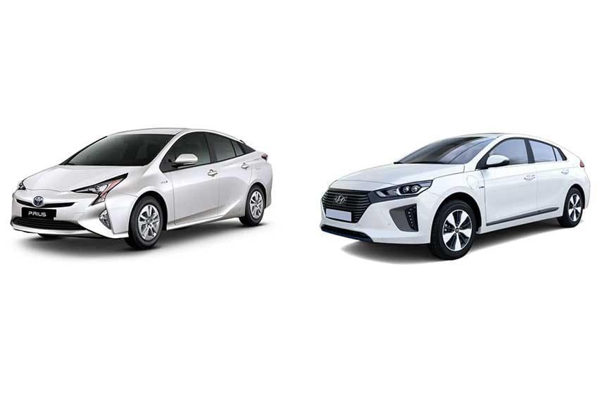 Toyota-Prius-Hyundai-Ioniq-Hybrid